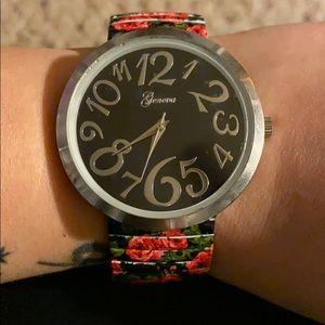 Betsey Johnson Rose 🌹 Stretch Watch